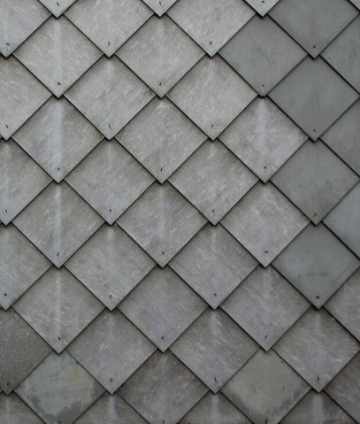 Diamond tiles service as a modern alternative to conventional shingles.